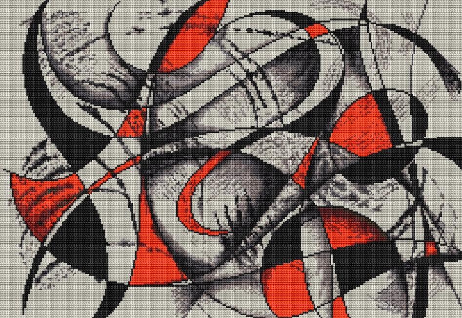 Вышивка крестомабстракция 6
