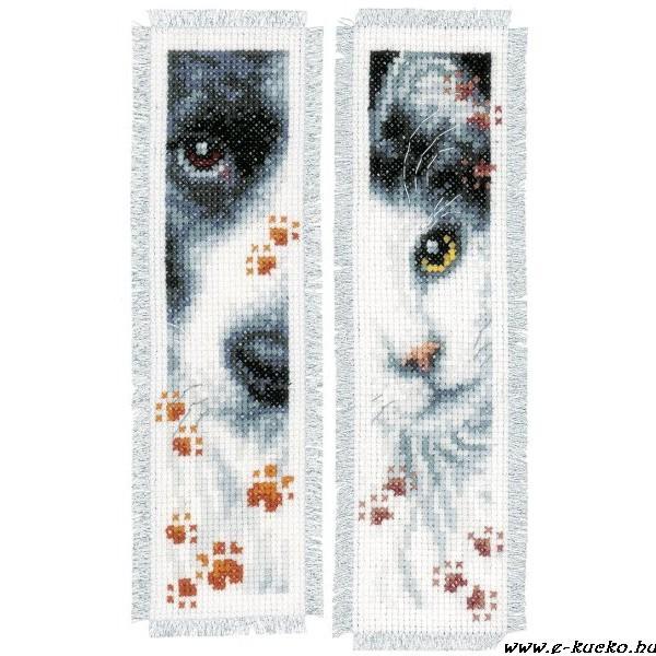 PN-0155651 Kutya és macska könyvjelző 6x20 cm  2 db-os szett - 5440 ... 2362c8297a